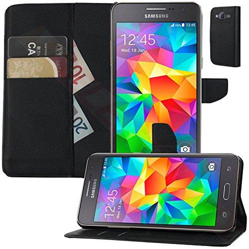 MOELECTRONIX Buch Klapp Tasche Schutz Hülle Wallet Flip Hülle Etui passend für Samsung Galaxy Grand Prime SM-G530FZ
