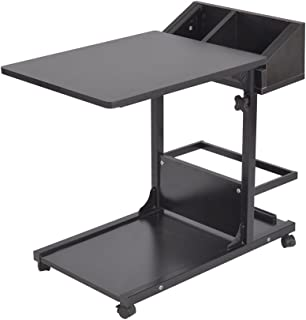 SogesHome Adjustable Lap Table Portable Laptop Computer Stand Mobile Desk Cart Tray End Table Coffee Table