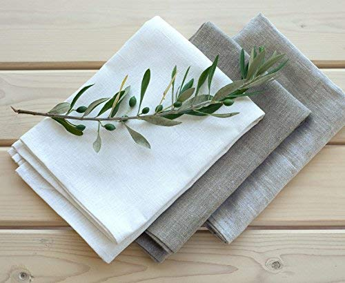 Set of 3 linen kitchen towels - ...