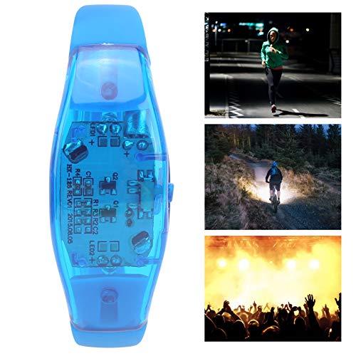 LEDブレスレット、シリコン点滅リストバンドサウンドコントロールLEDブレスレットステージバーパーティー、音楽コンサート、その他の夜のアウトドアスポーツに最適です(blue)
