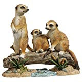 Design Toscano QL57089 Statue Clan de suricates, Multicolore, 12,5 x 38 x 33 cm