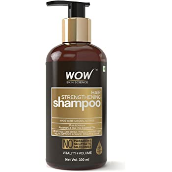 WOW Skin Science Hair Strengthening Shampoo - No Parabens, Sulphate & Silicones - 300mL