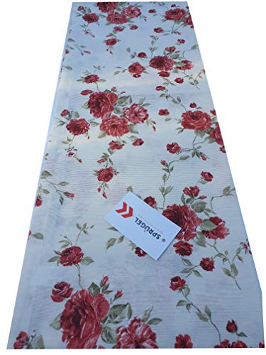 Sprügel - Tischläufer - Vinci Flower, rote Rosen, Landhaus,Shabby - 50 x 150 cm