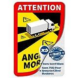 Autocollant Angle Mort Pour Poids Lourds - Adhésif Angle Mort Camion, Camping-car 3.5 Tonnes - Stickers Officiels Sans Bord Blanc, Etiquette Adhésive Anti UV et Anti-Rayure Made In France (3)