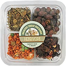 Herbivore Treat Variety Pack (9 oz.) - Healthy Natural Treat Assortment - Dried Flowers & Vegetables - Guinea Pigs, Rabbits, Chinchillas, Squirrels, Hamsters, Prairie Dogs, Degus & Other Small Pets