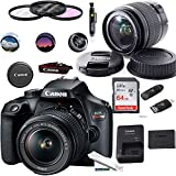 EOS Rebel T100 Digital SLR Camera with 18-55mm Lens Kit + Expo Basic Accessories Bundle