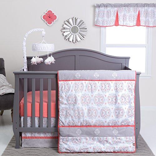 Trend Lab Valencia 3 Piece Crib Bedding Set, Coral (103025)