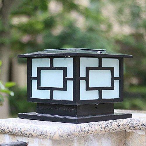 Luz De Columna De Aluminio De Estilo Chino E27 Farolillos De Pilar De Pared A Prueba De Agua Al Aire Libre Alto Brillo Exterior Europeo Lámpara De Poste A Prueba De Lluvia Entrada De Piscina Alumbrado