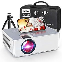 professional 1080P HD projector, WiFi projector Bluetooth projector, FANGOR 6500 lumen 230 inch portable film …