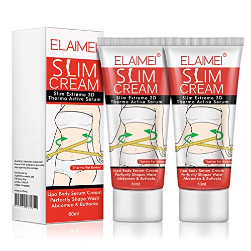 Hot Cream (2 Pack), Slimming Firming Anti-Cellulite Massage Cream,Fat Burning Weight Losing Moisturizer Gel for Shaping Waist, Abdomen and Buttocks