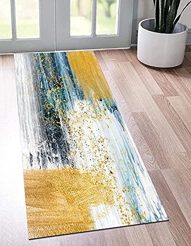Alfombra de corredor para el pasillo, diseño moderno de la geometría 3D Alfombra de la cocina antideslizante para el pasillo / dormitorio / escaleras, ancho 60 cm / 70 cm / 80cm / 90cm / 100cm / 110cm