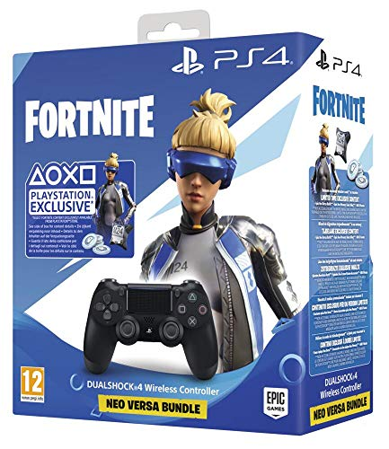 PlayStation 4 - Dualshock 4 V2+ Fortnite VCH (2020) - Bundle - PlayStation 4, Nero