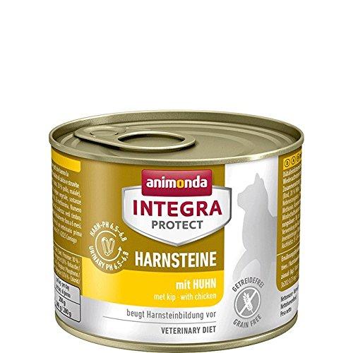 animonda Integra Protect Harnsteine,  Spezial-Katzenfutter, Nassfutter zur Vorbeugung eines Harnweginfekts, mit Huhn , 6 x 200 g