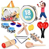 Toddler Educational & Musical Percussion for Kids & Children Instruments Set 21 Pcs – With Tambourine,...