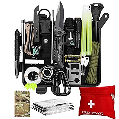 SCRIBY Survival Kit 73 in 1 - Emergency Survival Gear and Equipment First Aid Kit SOS EDC Survival Tools, Cool Gadgets Birthday Gifts for Men Dad Women Boyfriend Outdoor Camping Hiking Adventures from SCRIBY