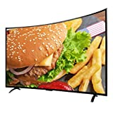YILANJUN 32/42 /50/55 Inch Full HD LED Smart TV Television Curved Screen, Mobile Phone Screen Projection, Artificial Intelligence, Dual-Band WiFi