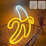 Banana Neon Signos LED Luces de neón Luces de arte Luces de pared Luces decorativas Batería / Luces de neón operadas por USB para paredes Signos de luz de neón para niños Dormitorio Barra de cumpleaño