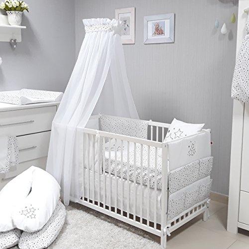 Babymajawelt® Baby Bettwäsche Set, Bett Set 4 tlg. VOILE BETT 70x140 cm,...