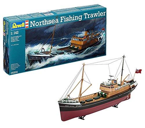 Revell North Sea Fishing Trawler, Kit Modello, Escala 1:142 (5204) (05204), 37,3 cm de Largo