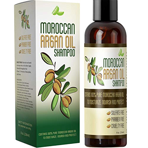 Moroccan Argan Oil Shampoo for Men and Women – Sulfate Free with Organic Argan and Jojoba – Color Safe Nourishing Daily Shampoo - Paraben Free and Cruelty Free 8 Oz - USA Made By Honeydew Products