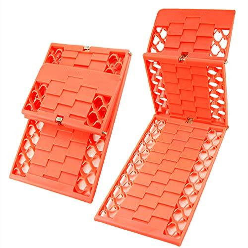 N / B Tableros de tracción de recuperación de 2 Piezas, Nuevo Material PP, Pistas portátiles Ladder de neumáticos, para Barro Fuera de Carretera, camión, Arena y extracción de vehículos de Nieve