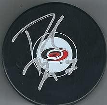 Autographed DEREK RYAN Carolina Hurricanes Hockey Puck