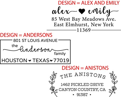 Personalized - Address Stamp - Customized Stamp - Self-Inking Return Address Mail 3 Lines Custom Address Stamper Wedding Invitation Stamp Photo #4