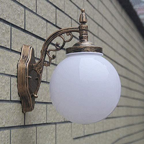 Zhenly Wand aus Aluminiumbronze und Acryl-Kuppel entworfen für die Außenwandgartenbeleuchtung Balkon Terrasse Pavillons Eingang Villa [Energie Stufe A],Copper