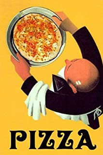 Waiter Restaurant Bar Cheese Pizza Italian Food 12
