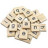 TININNA 100 pcs de Madera Baldosa del Alfabeto inglés de Las Cartas de Juguetes educativos Rompecabezas