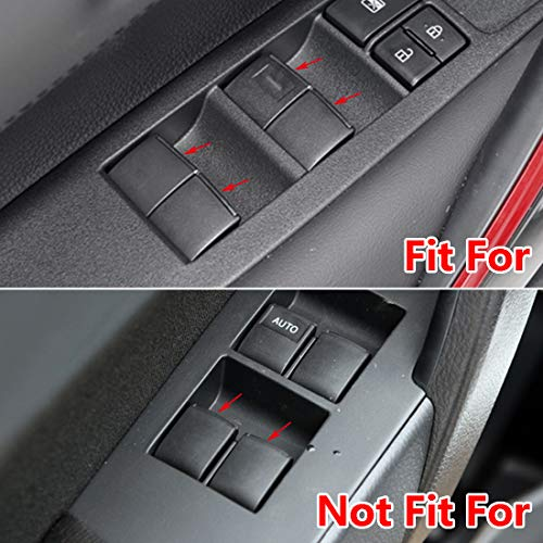 7pcs Window Lift Button Sequins Trim Fit for Toyota Camry Corolla RAV4 C-HR CHR Avalon Fortuner Hilux Prius Alphard Vellfire Highlander Sienna 2019-2021