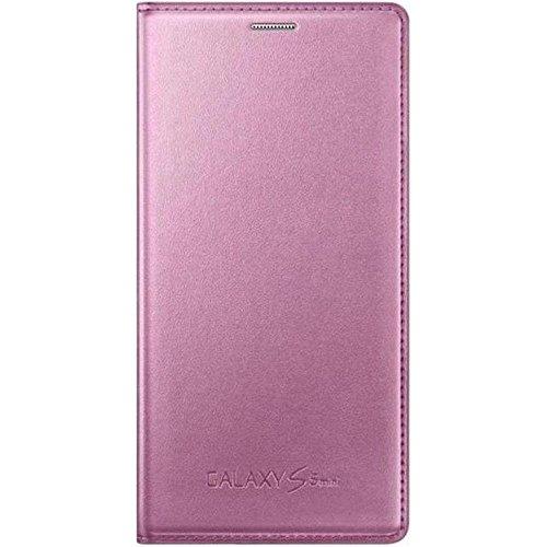 Samsung Flip Hülle für Galaxy S5 Mini metallic-pink