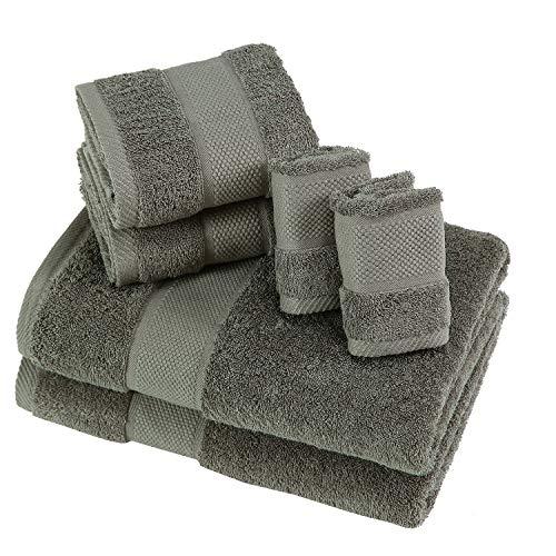 Juego de toalla 600 gr suaves de 6 piezas para uso diario algodón peinado 100% tejido extra grueso Mas vendido