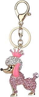 Luxurious Delicate Dog Shape Keychain Women Rhinestone Key Ring Handbag Pendant Charming Bag Chain Bag Jewelry
