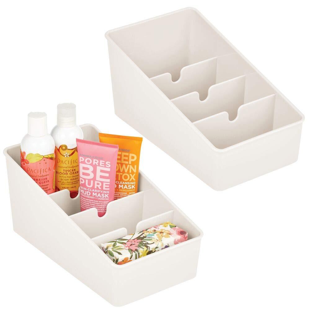 mDesign 17er-Set Badezimmer Aufbewahrung – Aufbewahrungsbox mit 17