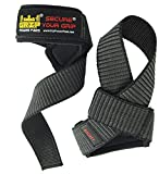 Grip Power Pads Deluxe Classic Heavy Duty Neoprene Padded Weight Lifting Straps, with Cotton Coated Rubber