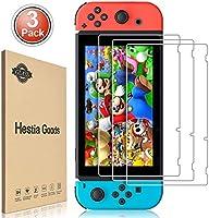 daydayup 3piezas Protector de Pantalla para Nintendo Switch Cristal Templado Pantalla,fácil instalación Sin Burbujas,...