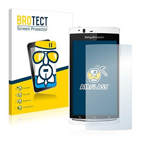 brotect Pellicola Protettiva Vetro Compatibile con Sony Ericsson Xperia Arc S LT18i Schermo Protezione, Estrema Durezza 9H, Anti-Impronte, AirGlass