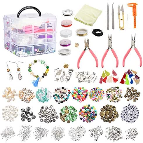 Roblue Jewelry Making Supplies 1526PCS Jewelry Making Kit Jewelry Beads and Charms Findings product image