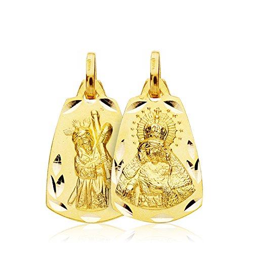 Escapulario Virgen Macarena y Cristo del Gran Poder Oro 18k 20x13mm