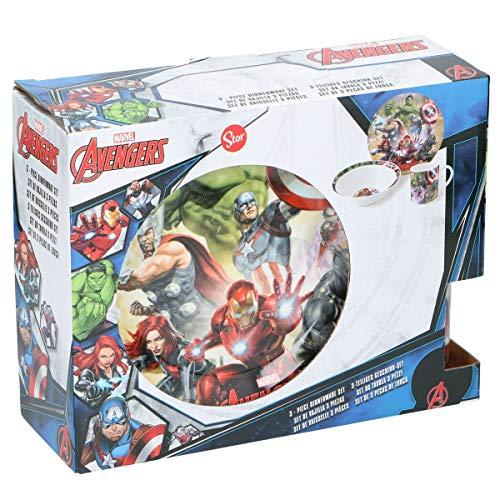 Marvel Avengers Geschirrset aus Porzellan Geschenkset 3tlg. Frühstücksset
