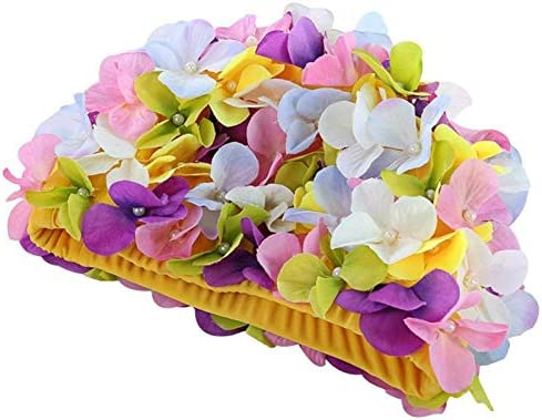 Ranking TOP2 feichang Women 3D Flowers Design fo sale Cap Bath Swimming Ladies