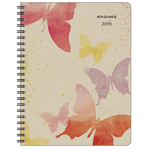AT-A-GLANCE Weekly / Monthly Planner 2016, Watercolors, Recycled, 8-1/2 x 11 Inches (791-905G)