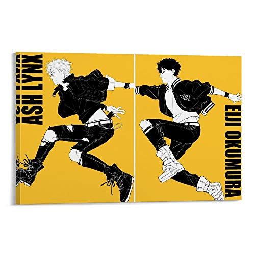 ASDFWQW Banana Fish Wallpaper Eiji Póster decorativo lienzo pared sala de estar póster dormitorio pintura 60 x 90 cm