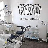 Adhesivo De Pared, Calcomanía Artística, Decoración, Cuidado Dental, Clínica Dental, Tienda Dental, Decoración, Ventana, 55X85Cm