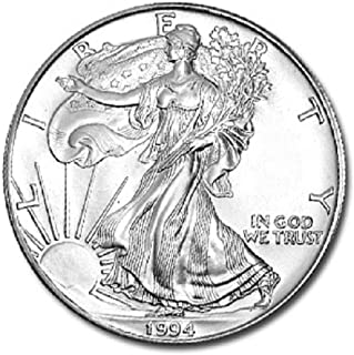 1994-1 Ounce American Silver Eagle Shipping .999 Fine Silver with our Certificate of Authenticity Dollar Uncirculated US Mint
