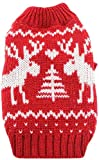 Llp Perro de Perrito Lindo suéter de Punto del Puente de Navidad Vestido de Traje de Reno de Perro de Mascota el día de Navidad de Invierno géneros de Punto del Gato Capa Caliente (Size : XL)