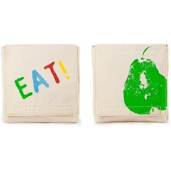 Fluf Reusable Sandwich & Snack Bags (Set of 2), Good Eats