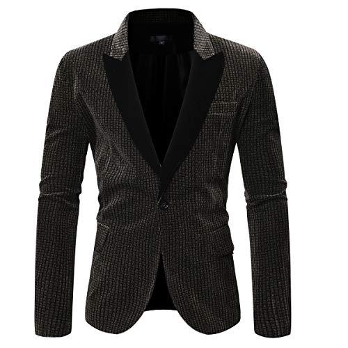 Walker & Hawkes - Mens Classic Scottish Harris Tweed Herringbone Overcheck Country Blazer Jacket - White Sand - 40