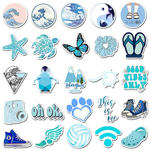 Vinyl Sticker 50Pcs Great for Water Bottles, Phone Cases, Skateboards, Guitars, and Much More! - Waterproof & Easily Removeable